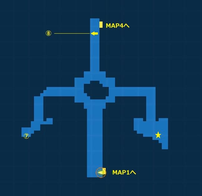 腐敗した神殿・探索MAP3