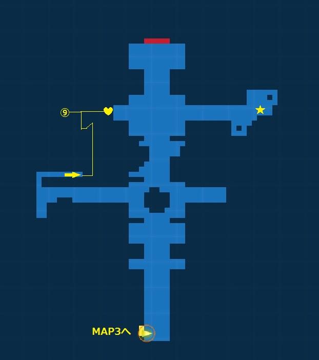 腐敗した神殿・探索MAP4