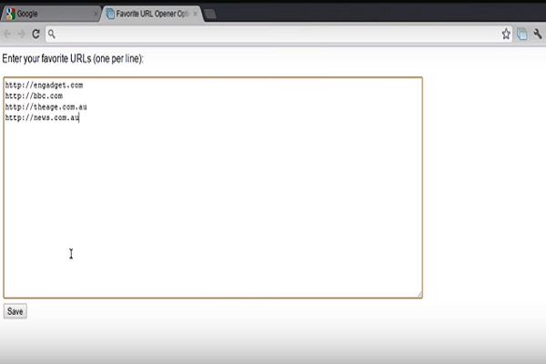 Favorite URL Opener