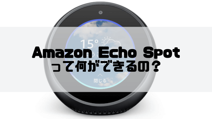 Echo Spotでできること
